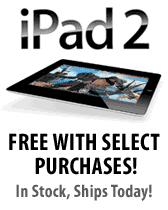 Free iPad 2 with select purchases!