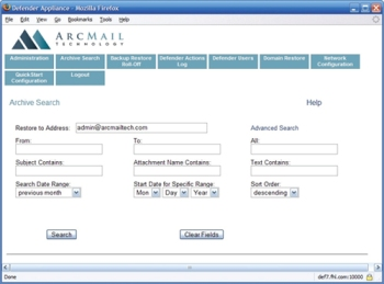 Arcmail Defender Screenshot